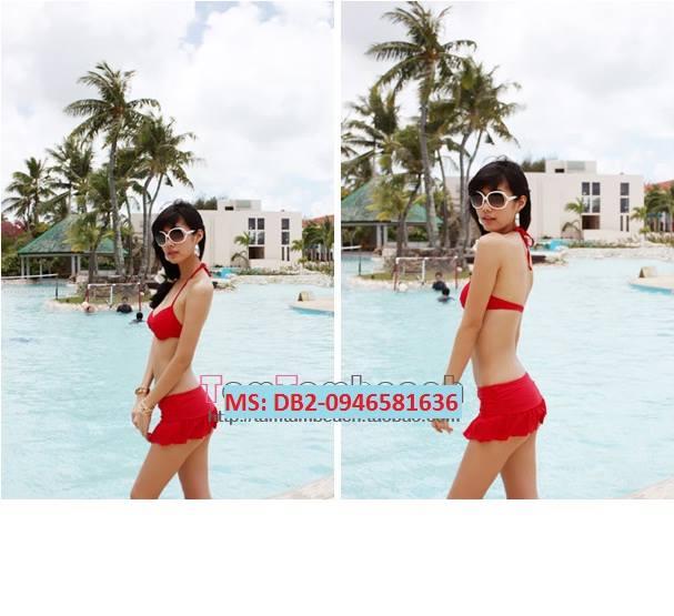 Bikini 2 mảnh màu đỏ DB2