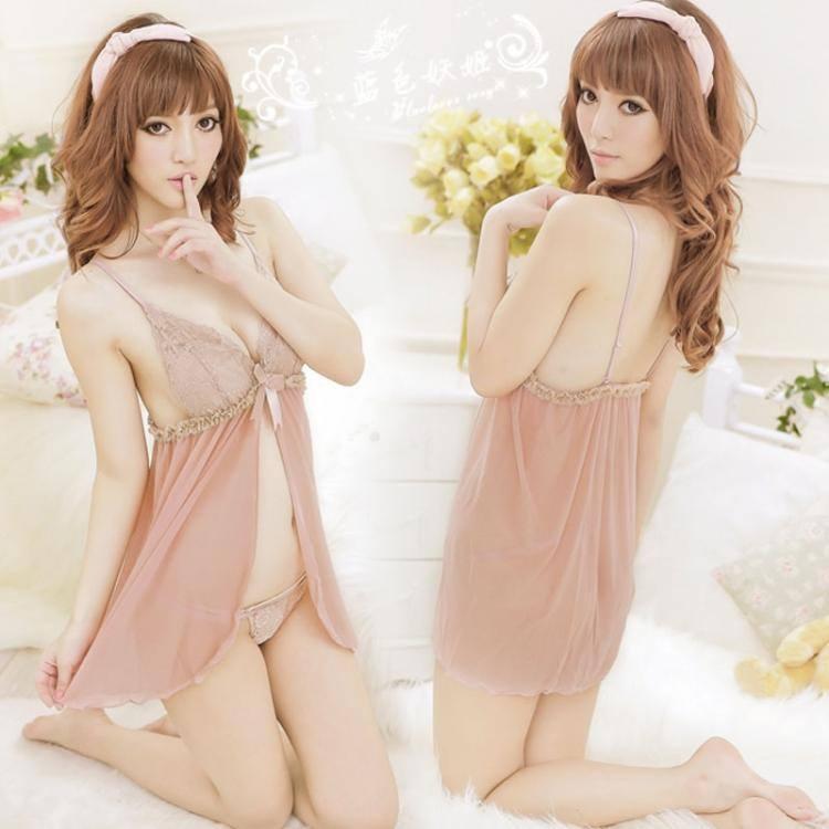 Đầm ngủ sexy màu nude DN188
