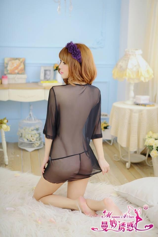 Đầm ngủ áo choàng gợi cảm DN250