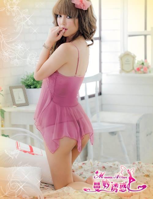 Đầm ngủ sexy DN253 hồng nhạt