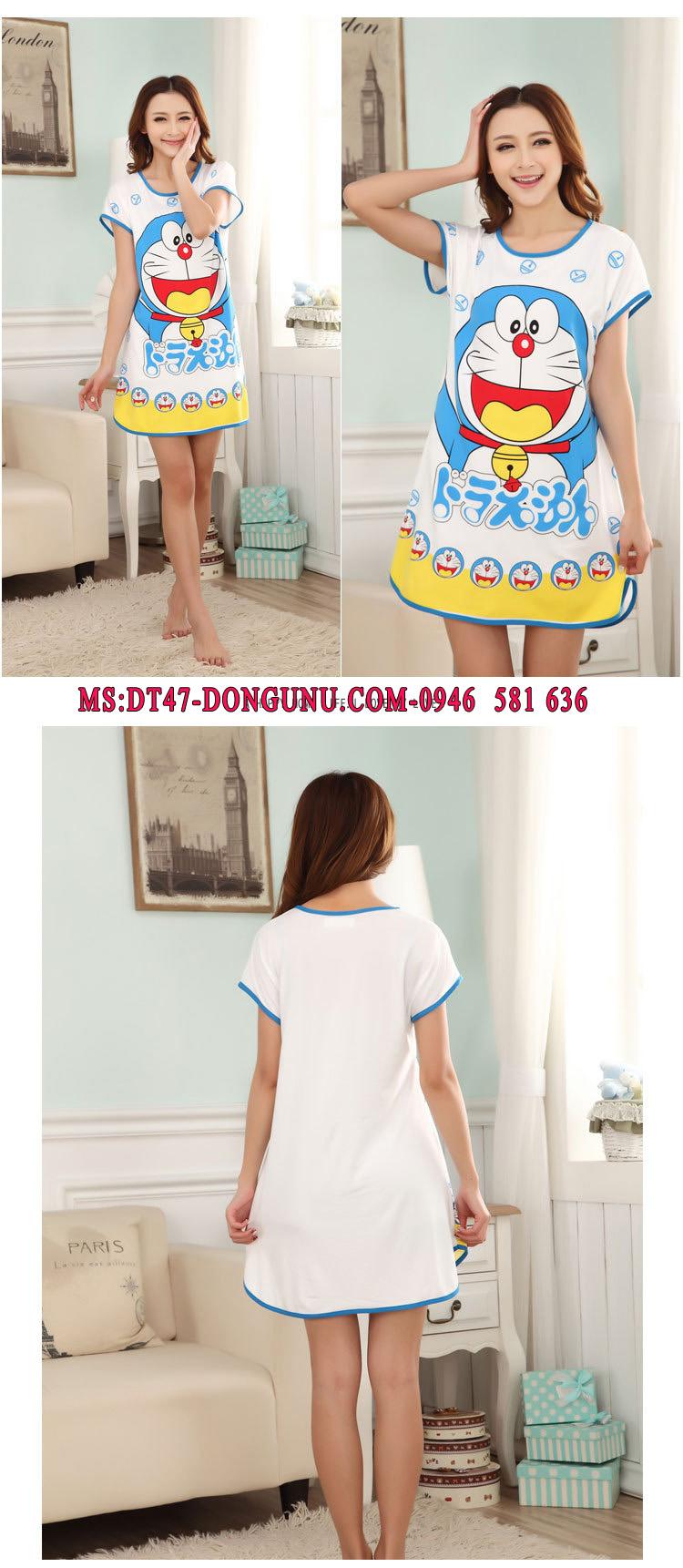 Đầm ngủ hoạt hình DT47 Doremon