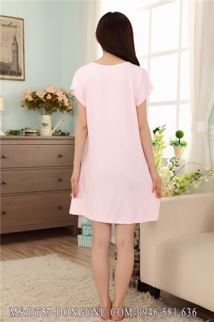 Đầm ngủ DT57 bàn tay màu hồng