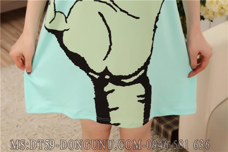 Đầm ngủ DT59 bàn tay xanh