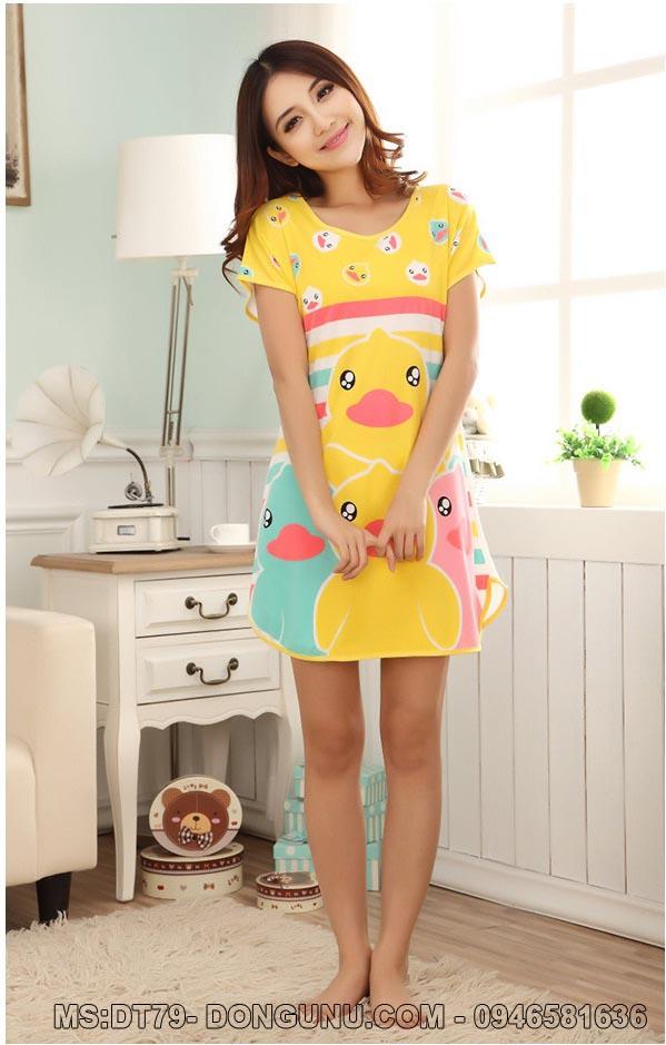 Váy ngủ hoạt hình DT79 đàn vịt con