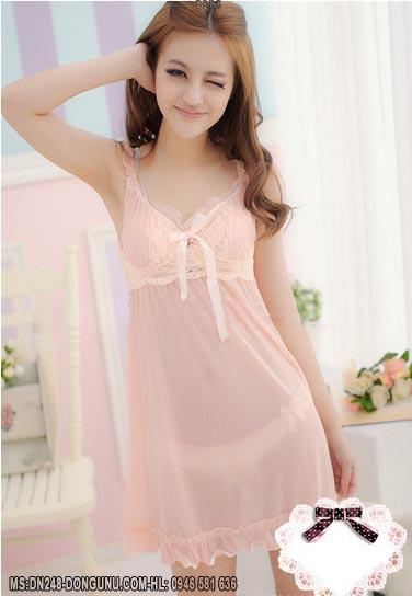 Váy ngủ quyến rũ DN148-cam