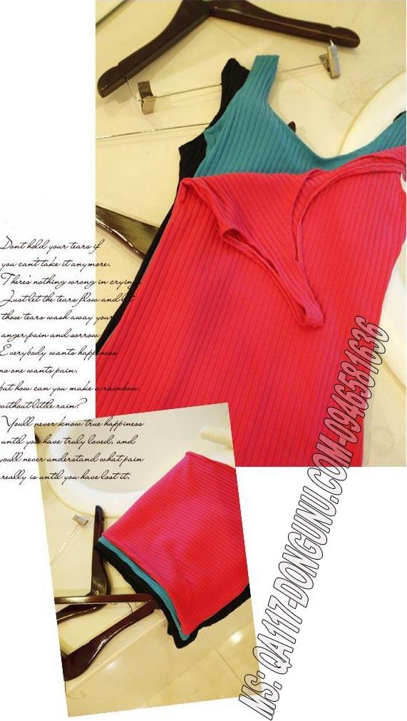 Đầm thun body QA117-đen