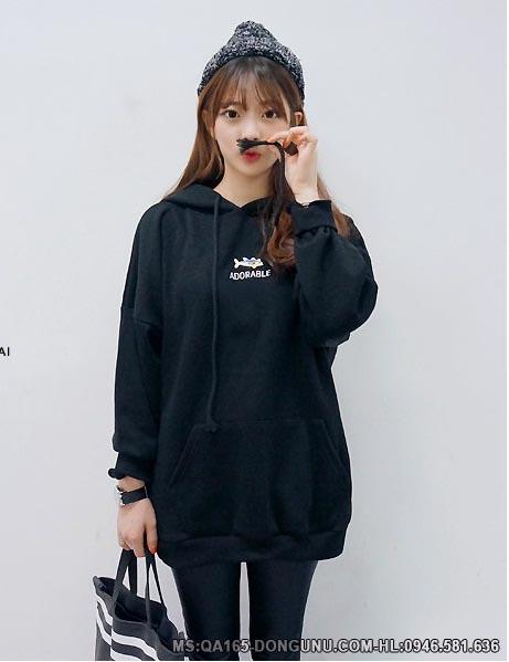 Áo nỉ Adorable QA165-đen