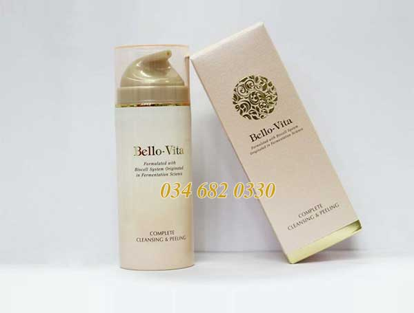 Kem rửa mặt tẩy tế bào chết Bello-Vita Complete Cleansing & Peeling 110g
